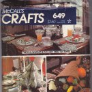 McCall's Crafts 649 Holiday Table Decor Plush Fruits Vegetables Cornucopia  Christmas Tree Uncut FF