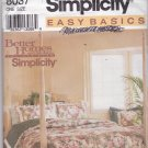 Simplicity 8037 Easy Basics Bedding Pattern Comforter Duvet Cover Dust Ruffle Shams Uncut FF