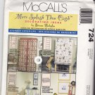 McCall's 724 pattern Home Decor Storage Cover-Ups Donna Babylon Uncut FF