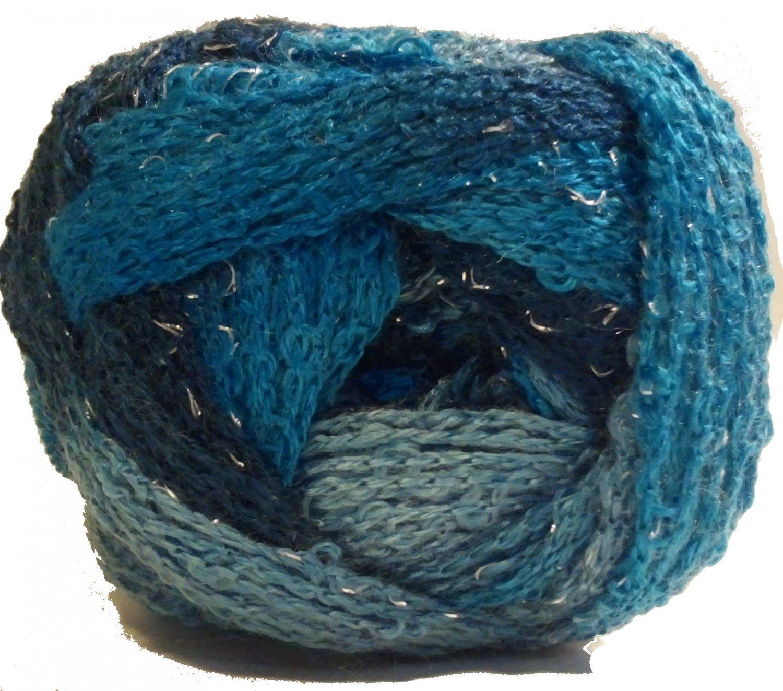 Sashay Yarn Red Heart 3.5 oz Jive 1940 Super Bulky 6 Ruffle Scarf Yarn Turquoise Blue Green Teal
