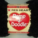 Pomp A Doodle Yarn Red Heart 3.5 ounces 54 yards Black Jet 9012 Super Bulky 6 Pom Pom