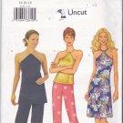 Butterick 3156 Pattern Uncut FF 14 16 18 Evening Halter Top Dress Straight Leg Pants