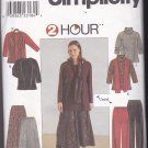 Simplicity 8805 Pattern Uncut FF 18w 20w 22w 24w Plus Top Skirt Pants Scarf Wardrobe Separates