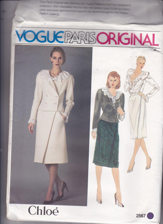 Vogue 2567 Pattern Uncut FF 14 Vogue Paris Original Chloe