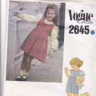 Vogue Children 2645 Pattern Uncut FF Girls size 5 Jumper Jumpsuit Pullover Blouse