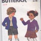 Butterick 3595 Pattern Uncut FF Girls Boys size 5 Jacket Skirt Shirt Shorts School Uniform