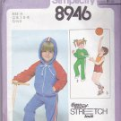 Simplicity 8946 Pattern Uncut FF Girls Boys size 2 3 4 Hoodie Jacket Top Sweat Pants Shorts