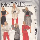 McCall's 8116 Pattern Uncut FF 14 Roland Klein Dress Tunic Top Skirt Pants