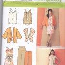 Simplicity 1884 Pattern Uncut FF xxs thru xxl Pants Top Dress Kimono Separates In K Designs