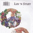 Butterick 3877 Crafts Pattern Uncut FF Luv N Stuff Bunny Rabbit Garden Wreaths