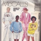 McCall's 4386 Uncut FF Men Women Medium 36 38 Camp Beverly Hills Hoodie Sweats with Transfer