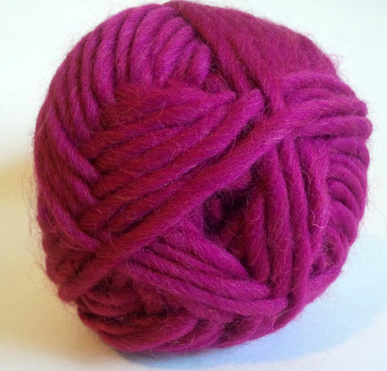 Northland Cavern Acrylic Wool Blend Yarn 3.5 oz Magenta Super Bulky 6