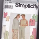 Simplicity 7970 Uncut FF 16 18 20 plus Separates Top Jacket Skirt Pants