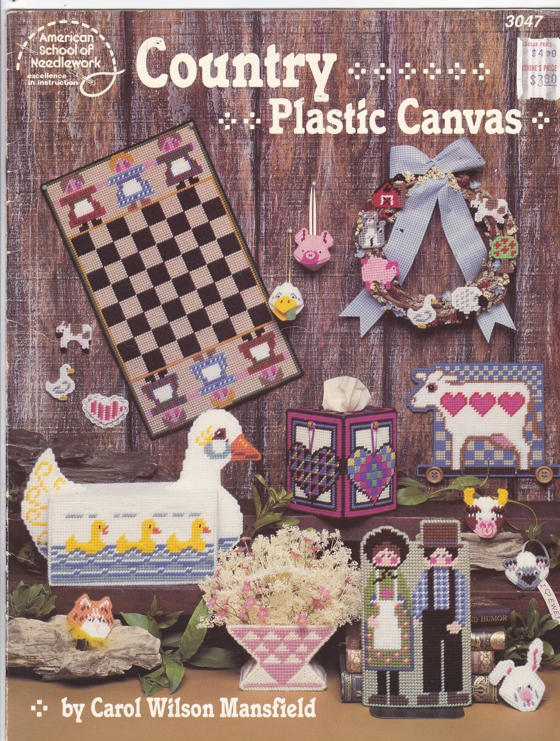 Country Plastic Canvas pattern booklet 3047 Carol Wilson Mansfield