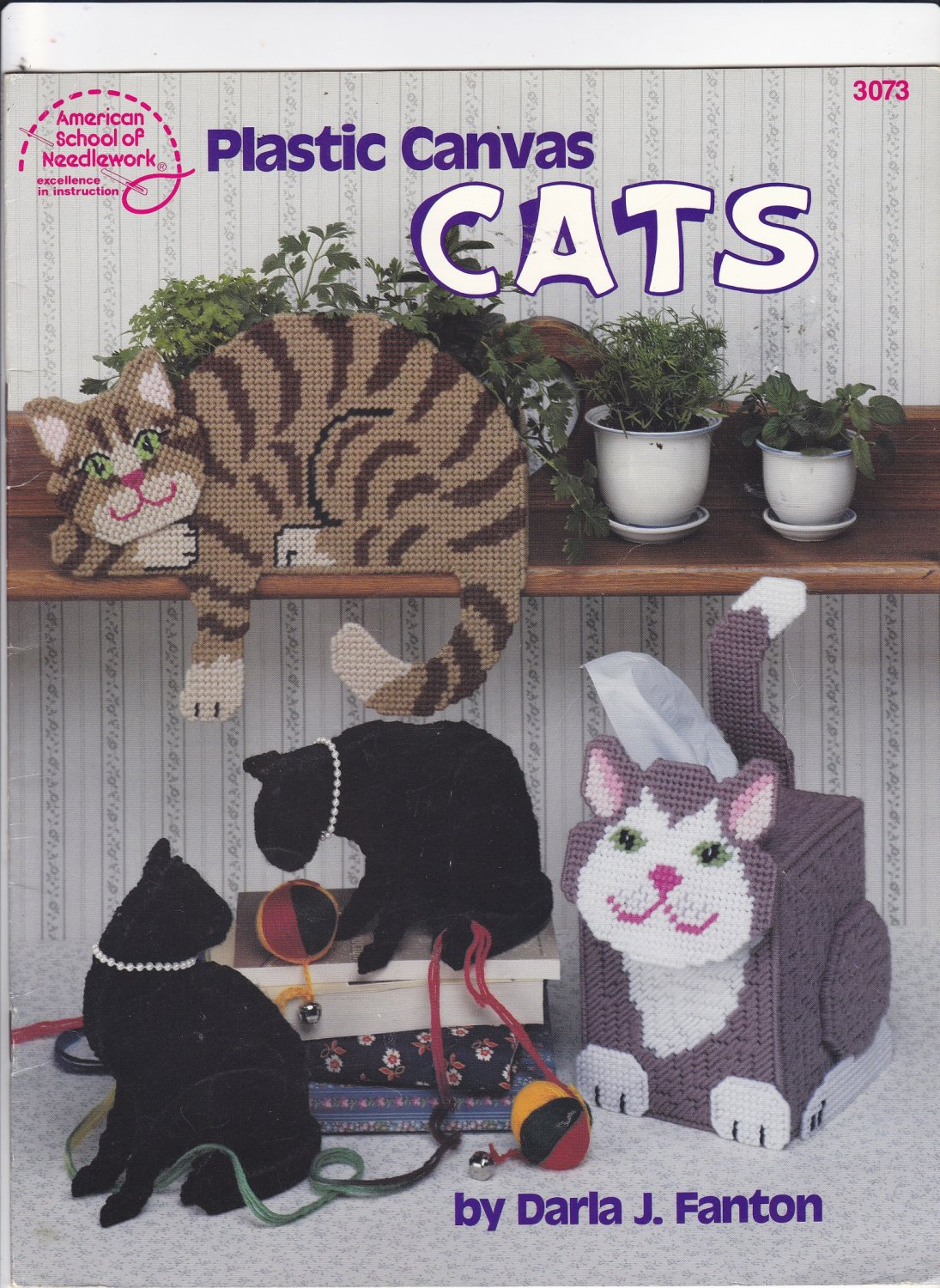 Plastic Canvas Cats pattern booklet 3073 Cats and Kittens Home Decor