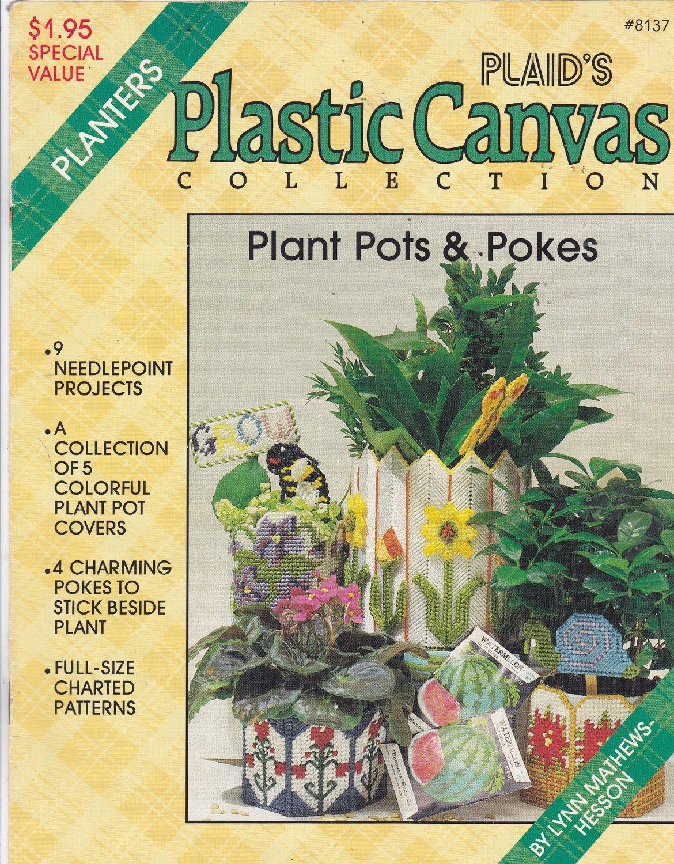 Plaid's Plastic Canvas Collection Plant Pots & Pokes pattern booklet 8137