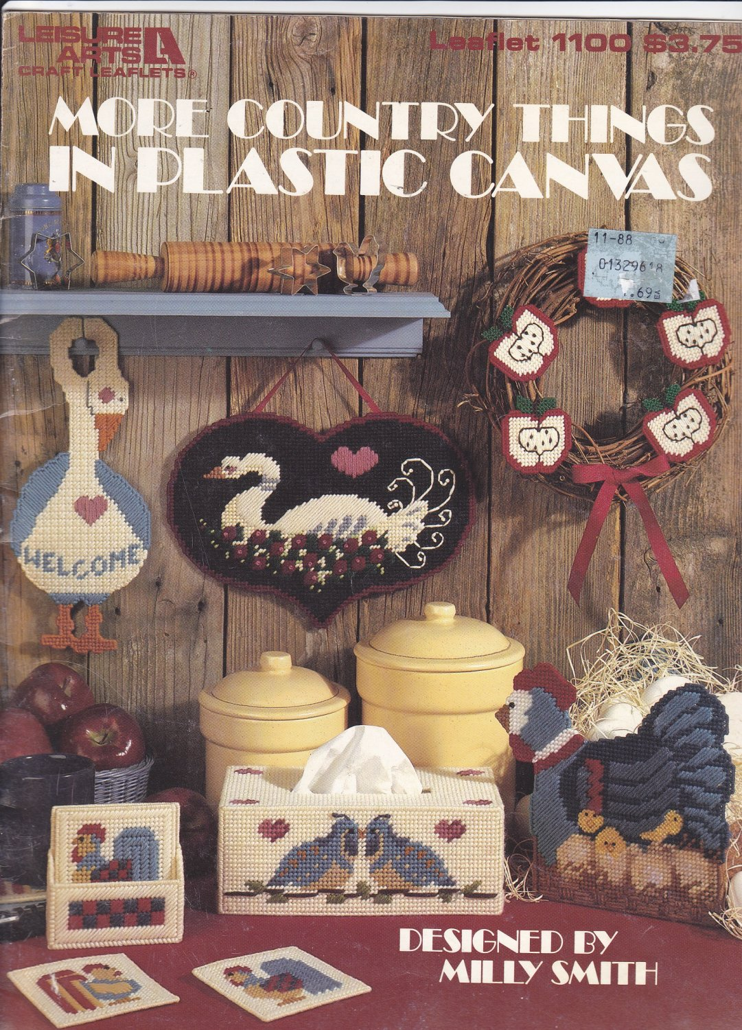 Leisure Arts More Country Things In Plastic Canvas pattern booklet 1100