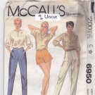 McCall 6950 Pattern 8 Waist 24 Hip 33.5 Uncut Shorts Tapered Pants vintage 1980s 80s