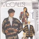McCall's 7310 Pattern XS S M Uncut Jackets Dolman Sleeves Ribbon Fringe Button Frog Concho Patchwork