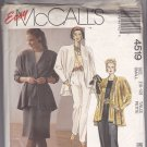 McCall's 4519 Pattern 10 12 Uncut Unlined Flared Jacket Top Skirt Pants Sash for Knits