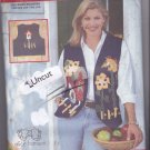 Butterick 4911 Pattern S M L (8 10 12 14 16 18) Uncut Applique Vests Alice Hanson Country