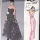 Vogue 1853 Pattern Uncut Size 8 Bust 31.5 Formal Dress Flared Overskirt Bellville Sassoon Designer