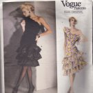 Vogue 1702 Pattern Cut Counted & Pressed Size 8 Bust 31.5 Ruffled One Shoulder Party Dress Givenchy