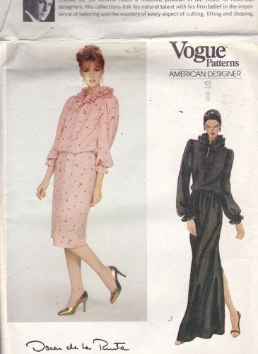 Vogue American Designer 2783 Pattern 10 Uncut Oscar de la Renta Ruffle Top Skirt