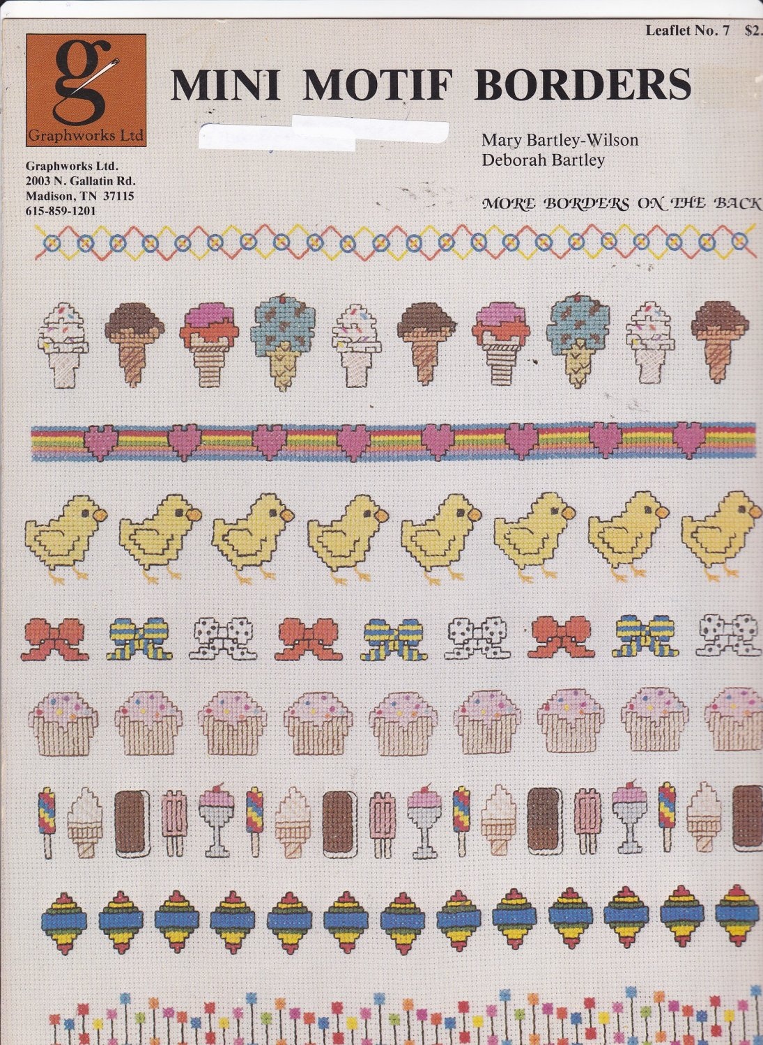Graphworks Mini Motif Borders leaflet 7 Counted Cross Stitch