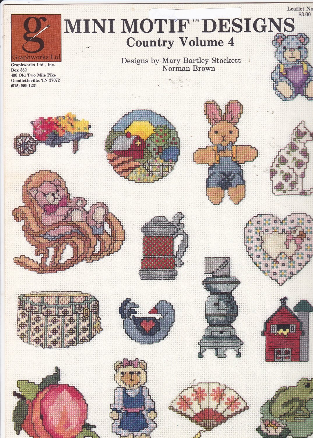 Graphworks Mini Motif Designs Country vol 4 leaflet 29 Counted Cross Stitch