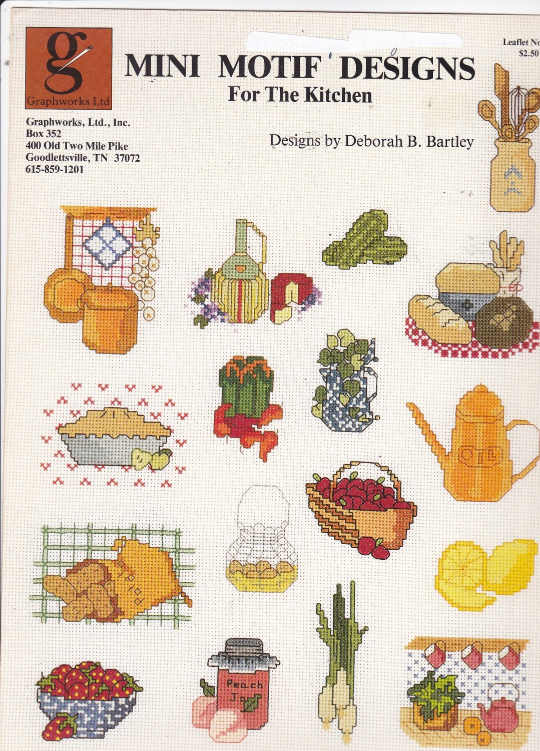 Graphworks Mini Motif Designs for the Kitchen leaflet 22 Counted Cross Stitch