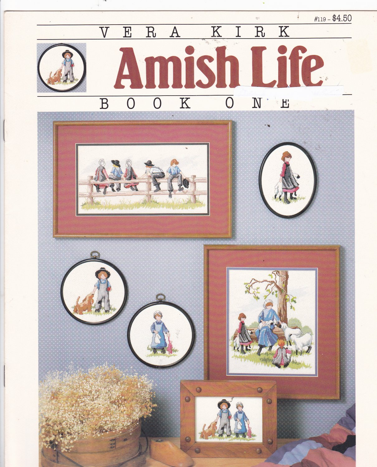Vera Kirk Amish Life Book 1 booklet 119 Counted Cross Stitch