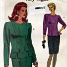 Vogue 8163 Pattern 8 10 12 Very Easy Top Blouse Skirt Princess Seams Uncut