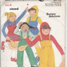 Vintage Butterick Pattern 5578 Kids' T-Shirt Jumper Jumpsuit 5 Betsey Johnson Cut Complete
