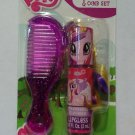 My Little Pony Strawberry Lip Gloss + Sparkly Pink Comb Set MLP