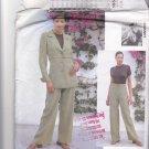 Vogue Attitudes 1954 Pattern Uncut 12 14 16 Lined Belted Jacket Wide Leg Pants Mariot Chanet