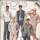 McCall's 2607 Pattern Uncut Men 40 Unlined Casual Jacket Vest Shirt Front Pleat Pants Waist 34