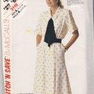 McCall's Stitch N Save 3110 Pattern 10 12 14 Bust 32 34 36 Uncut Dress