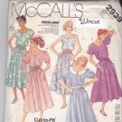 McCall's 2939 Pattern 8 10 12 Uncut Pullover Dress Puffy Sleeves Full Skirt Contrast Collar