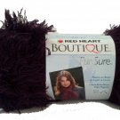 Red Heart Boutique Fur Sure Yarn Eggplant 9545 Dark Purple Eyelash Yarn Super Bulky 6