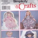 Simplicity 8960 Pattern Uncut FF Clothes for 12 14 16 18 20 22 inch Doll