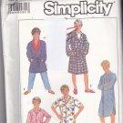 Simplicity 8327 Pattern Uncut Boys Large 12 Pajamas Pants Night Shirt Robe Sleepwear