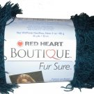 Red Heart Boutique Fur Sure Yarn Teal 9529 Deep Blue Green Eyelash Yarn Super Bulky 6