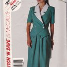 McCall's Stitch N Save 4660 Pattern 6 8 10 Uncut Unlined Jacket Skirt Short Sleeves