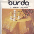Burda 507/001 Embroidery Transfer Straw Flower Motif and Buttonhole Stitch Edge for Tablecloth