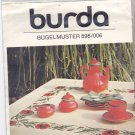 Burda 598/006 Iron On Embroidery Transfer Red Poppies Floral Cross Stitch Border for Tablecloth