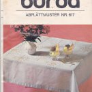 Burda 617 Iron On Embroidery Transfer White or Multi-Color Floral Motif for Tablecloth