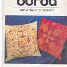 Burda 684/002 Cross Stitch Embroidery Transfer Floral Cross Stitch Medallions
