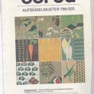 Burda 786 Embroidery Transfer Farm Motifs Animals Vegetables
