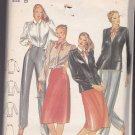 Butterick 3418 Pattern 8 10 12 Uncut Lined Jacket Blouse Skirt Pants Mock Fly